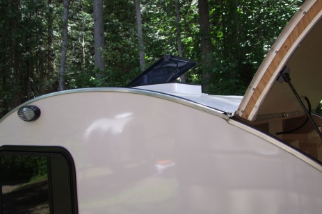 Northern Teardrop Trailer with optional power roof vent