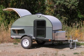 Coloured Northern Teardrop Trailer