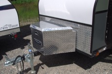 Optional 36x18x20 Diamond plate cargo box c/w integral keyed lock, weatherstrip, self opening strut