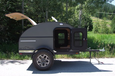 "Overland model with custom colour ""slate"" siding"