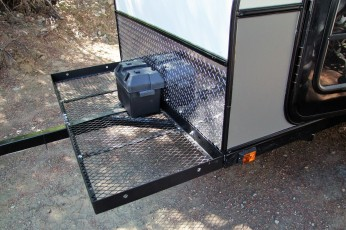 Optional cargo rack, longer tongue